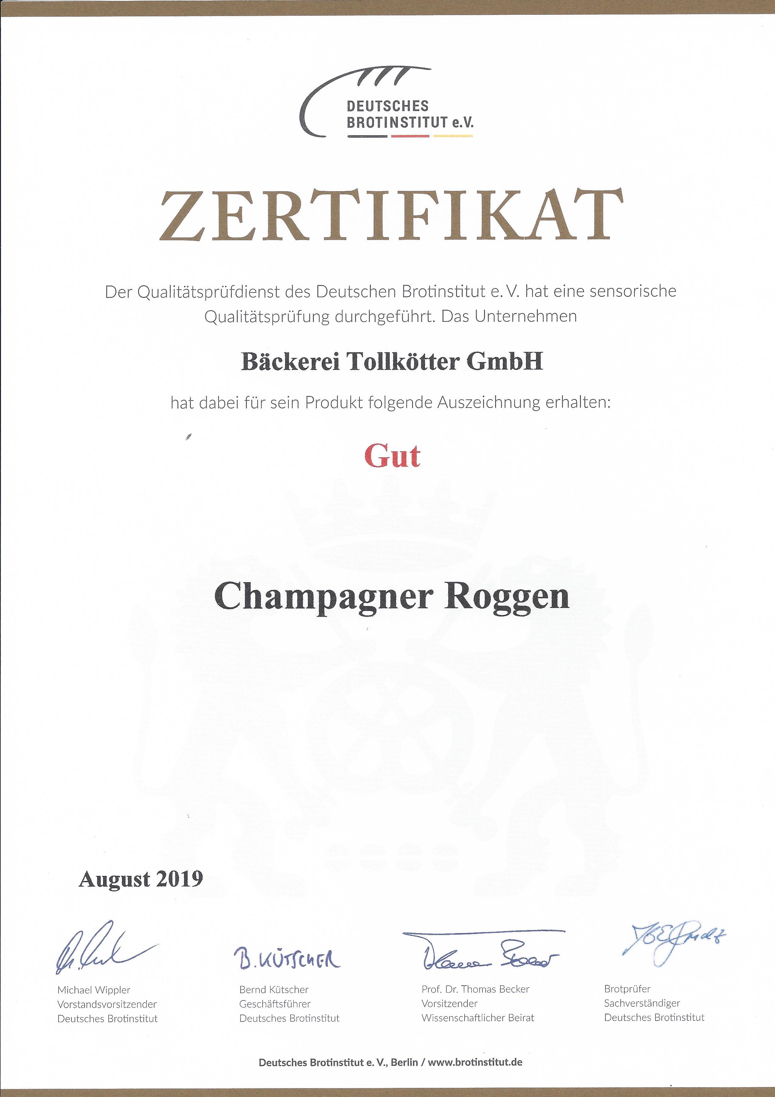 Champagner Roggen