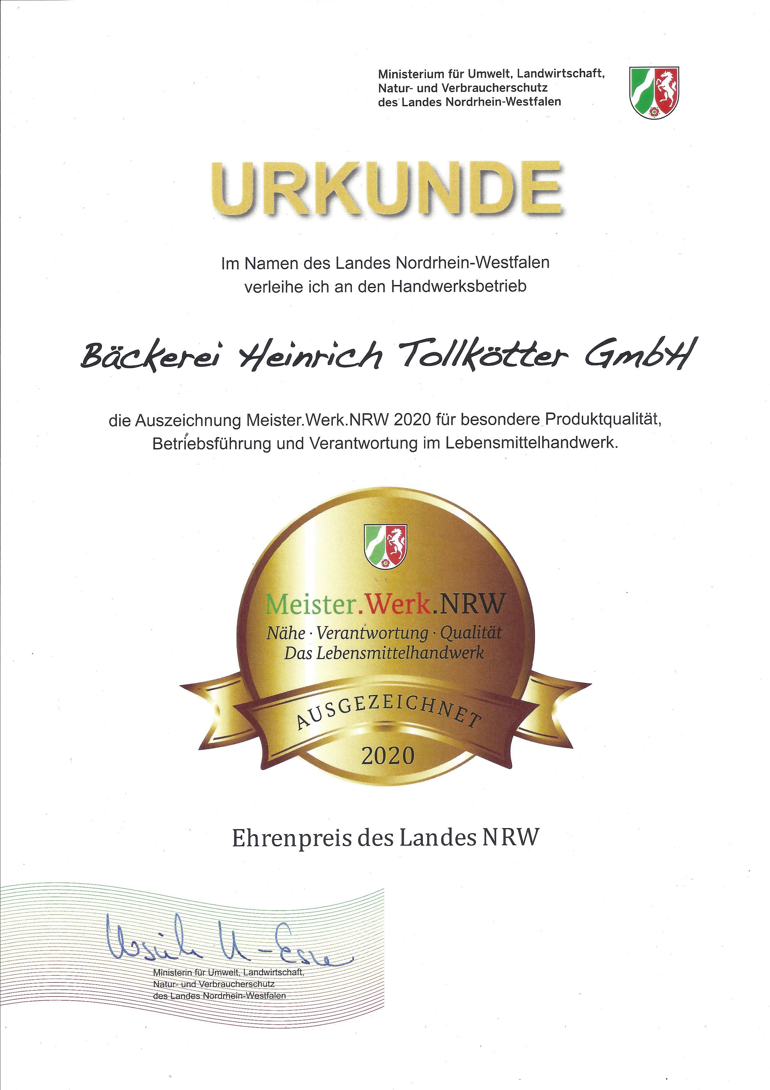 Meister Werk NRW 2020