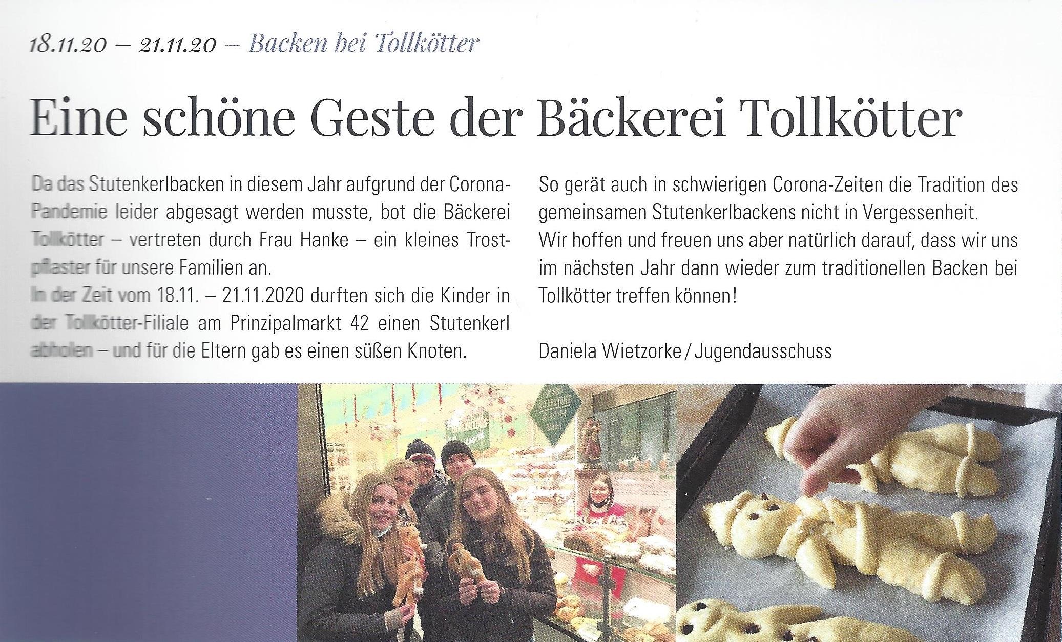 Zwie Löwen Club Journal Abholung Stutenkerl Prinzipalmarkt